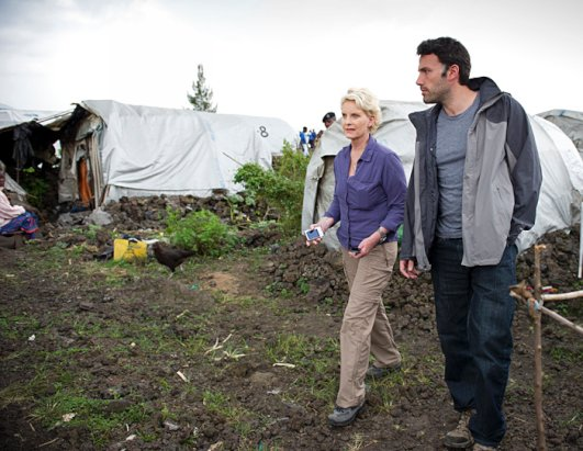 Cindy McCain and Ben Affleck on a recent trip to Congo