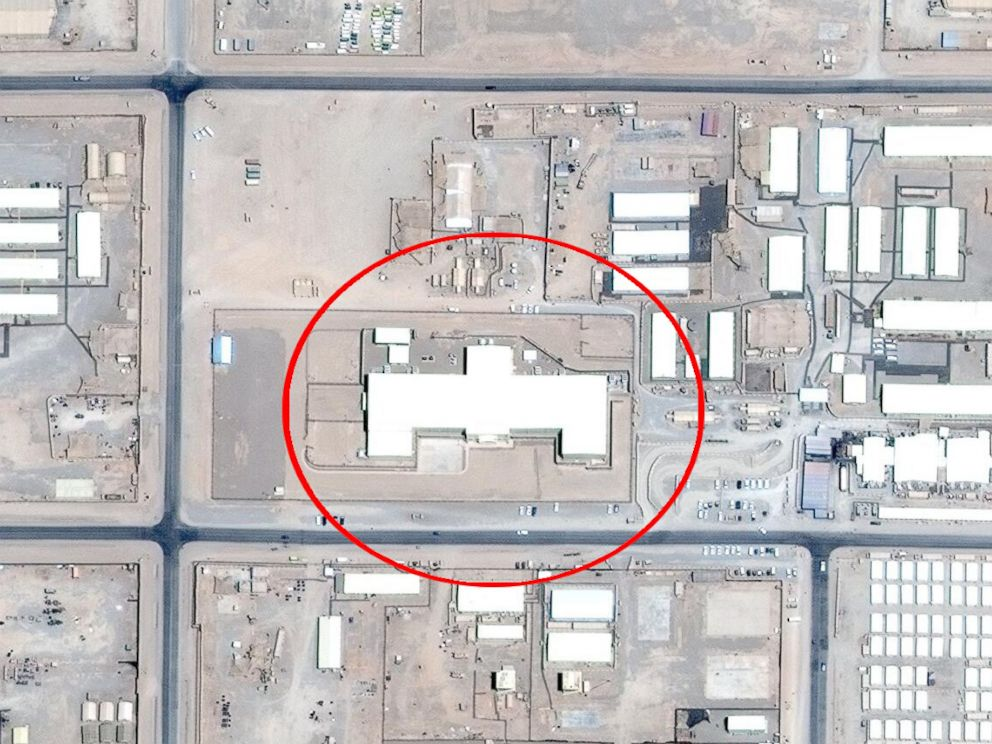 PHOTO: The 64K facility at Camp Leatherneck. Red circle added by ABC News for clarity.