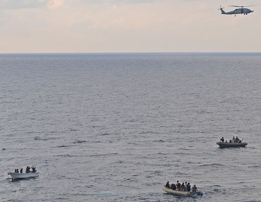 US Navy ship apprehends Somali pirates