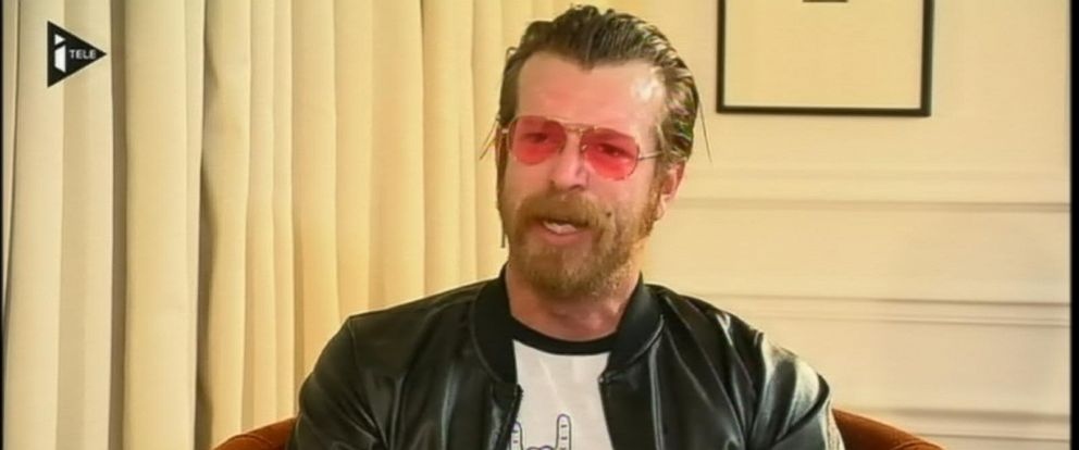 PHOTO: Eagles of Death Metal frontman Jesse Hughes in an interview with Frances iTELE, Feb. 15, 2016.