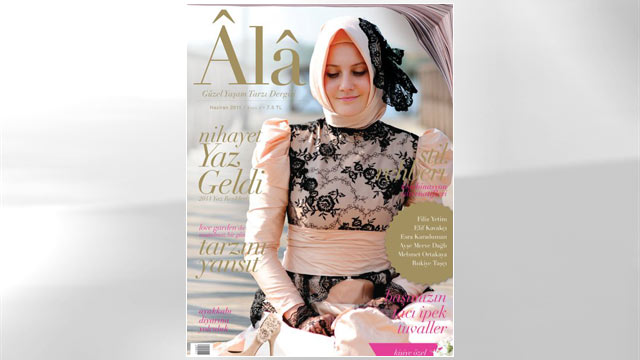PHOTO: The Turkish magazine Alâ has found a niche in headscarf-wearing women.