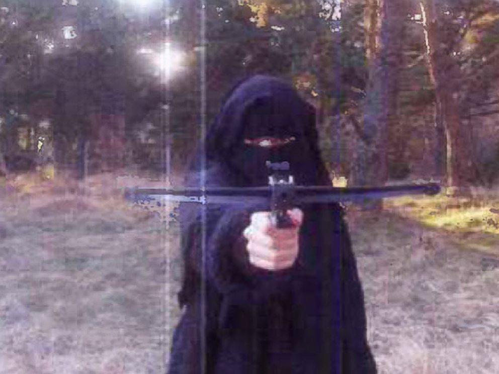 PHOTO: In this 2010 file photo, Hayat Boumeddiene trains with an arrow gun in the Grenoble area of France, who is wanted in connection with the shooting of a French policewoman and for being involved in the hostage situation.