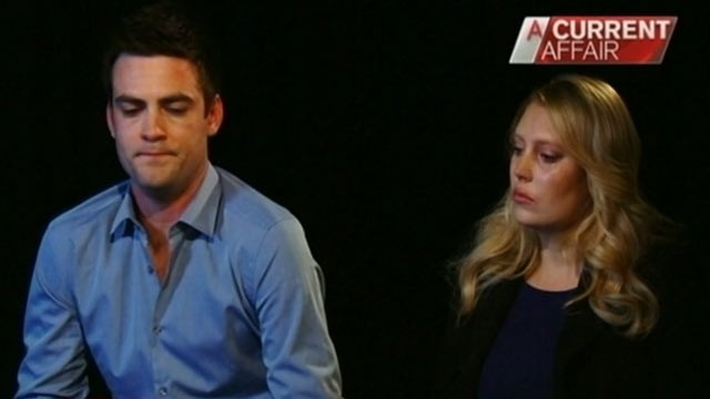 PHOTO: Australian 2Day FM radio presenters Michael Christian and Mel Greig discuss the recent prank they pulled with