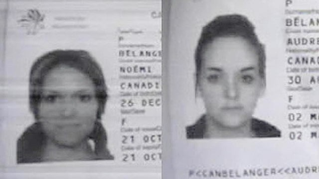 PHOTO: Passport photos of Noemi and Audrey Belanger, who where found dead at the Phi Phi Palm Residence Hotel, are shown.