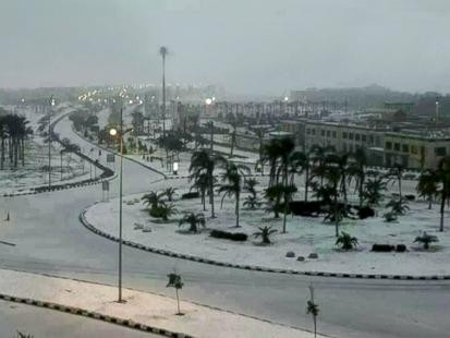 Unexpected Snowstorm in Middle East