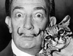 PHOTO: Salvador Dali with ocelot and cane, 1965. (Library of Congress)