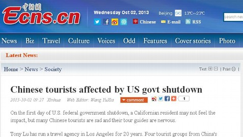 ht china news service nt 131004 wblog Headlines: US Government Shuts Down, World Says, Meh
