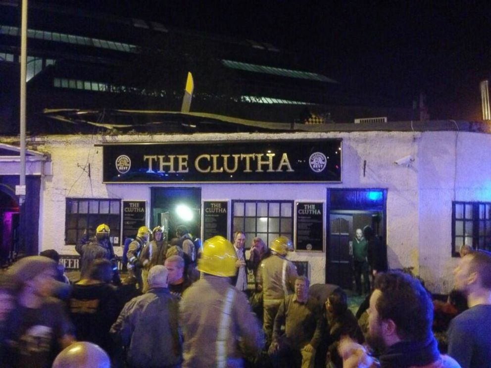 PHOTO: Wesley Shearer shared this image, taken from the Clutha pub in Glasgow on Nov. 29, 2013, on Twitter with the caption, This is unbelievable. Just spent 20 minutes pulling people out the bar. Apparently a helicopter crashed on the roof.