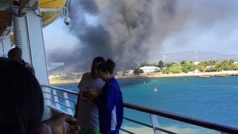 Cruise Ship Catches Fire