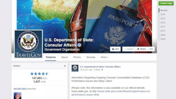 ht dept of state consular affairs jc 140731 16x9 608 State Department Using Facebook for Visa Delay Damage Control