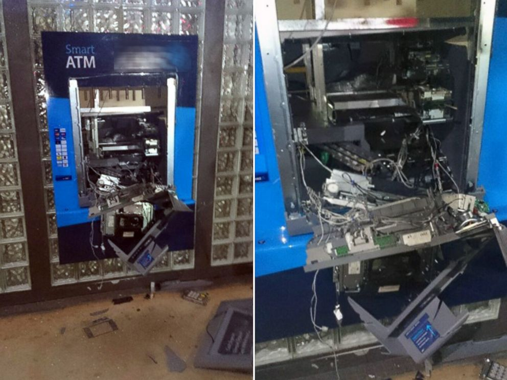 PHOTO: Police in the Northern Territory of Australia have released these two images of an ATM in the town of Winnellie that was destroyed in an explosion in the early morning of Dec. 30, 2014.