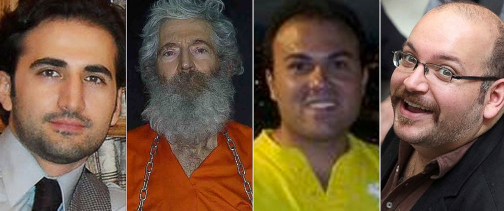 PHOTO: From left, Amir Hekmati, Robert Levinson, Saeed Abedini and Jason Rezaian are pictured.
