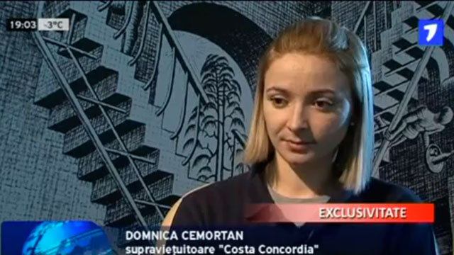 PHOTO: Investigators believe Domnica Cemortan was the captains shadow, despite her assertion that although she is an employee, she was on board as a passenger.