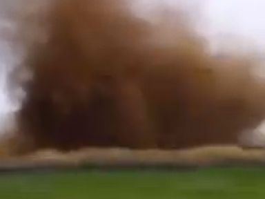 PHOTO: A dustnado just out side of Toowoomba, Australia appears in this screen grab.