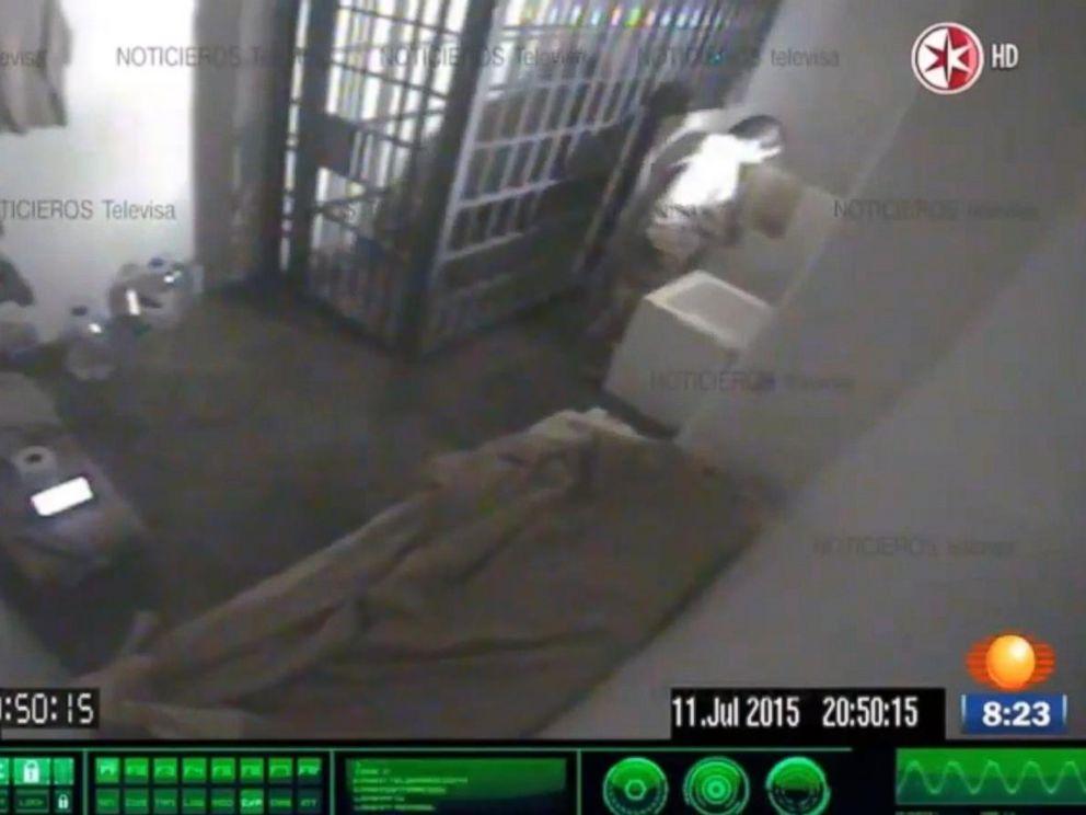 PHOTO: Surveillance footage of Joaquin El Chapo Guzmans cell.