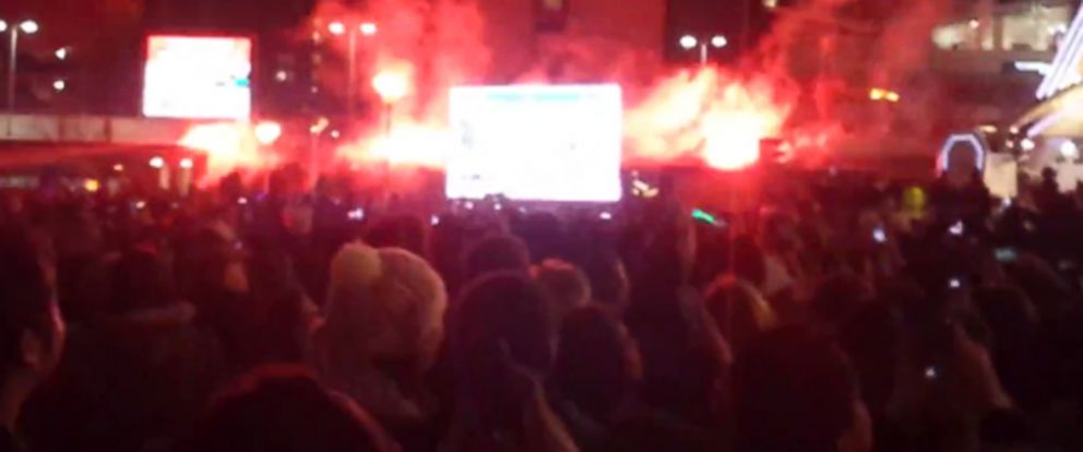 PHOTO: Attendee Jay Smith uploaded a video to YouTube, pictured in this still, which captured the failed fireworks in Manchester.