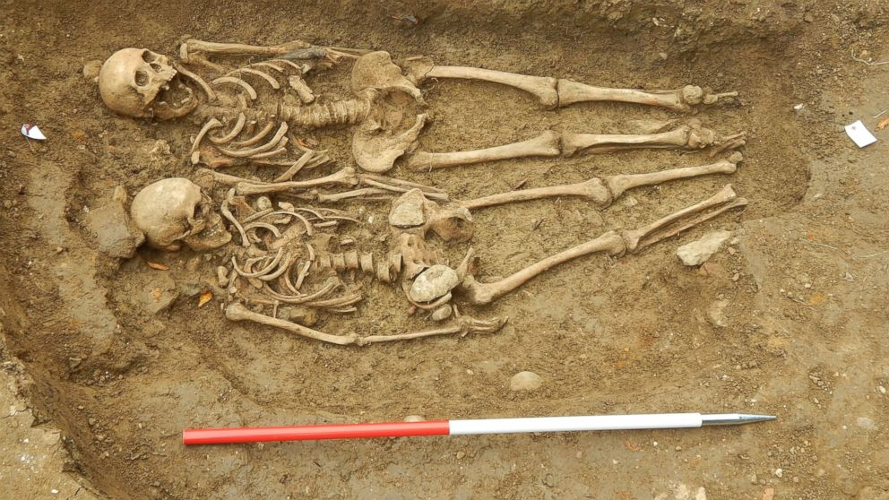 Ancient Skeletons Found Holding Hands In England Abc News