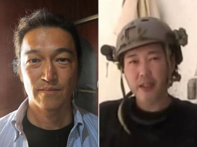 PHOTO: Japanese journalists Kenji Goto Jogo, seen left in this April 25, 2014 file photo, and Haruna Yakawa, seen right in this undated photo, appeared in a video released by ISIS, Jan. 20, 2015.