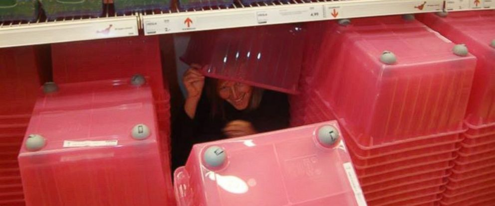 PHOTO: In 2014, a Belgium blogger organized a game of hide-and-seek at the IKEA in Wilrijk with the cooperation of the furniture retailer.