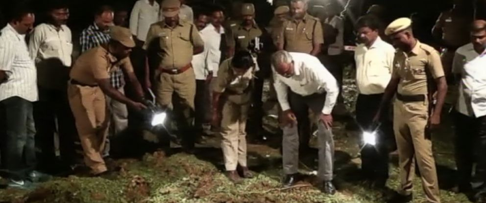 PHOTO: Officials in India are investigating an explosion that was reportedly caused by a meteorite in the district of Vellore on Feb. 6, 2016.
