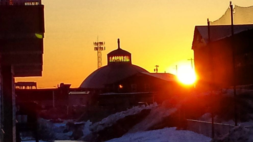 The sun rose in Inuvik, Canada at 2:30 a.m. on May 24, 2015 and will not set until July 20, 2015.