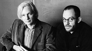 Photo: Julian Assange vs Daniel Domscheit-Berg