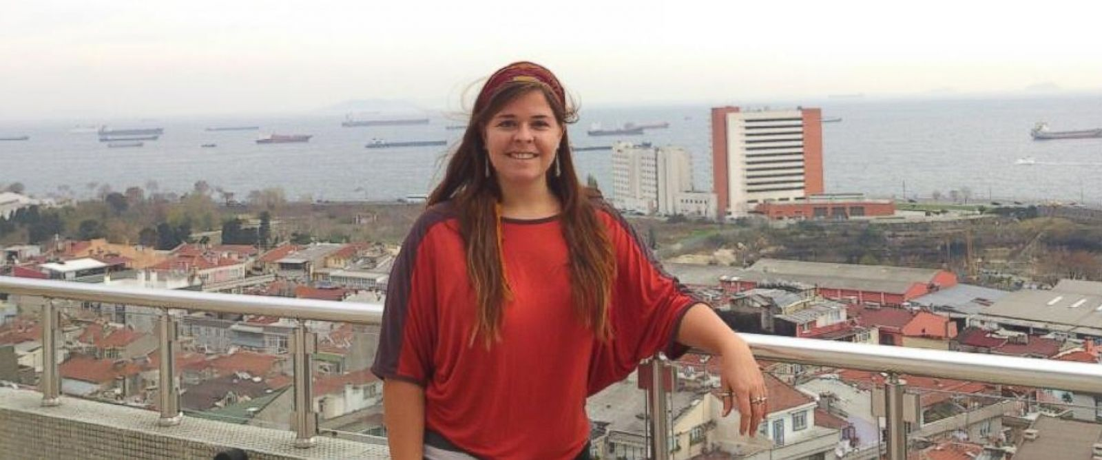 Kayla Mueller seen on her travels in this undated photo.