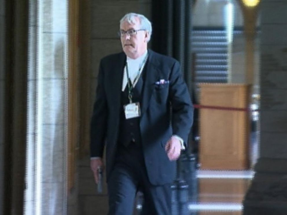 PHOTO: House of Commons sergeant-at-arms Kevin Vickers is seen in this Oct. 22, 2014 photo after an attacker entered parliament buildings in Ottawa, Canada.