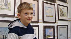 Photo: Painting Prodigy: Kids Art Sells for Over $200,000: People from as Far Away as South Africa and Arizona Traveled to U.K to Buy Seven Year Olds Paintings