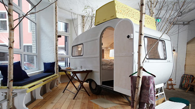 PHOTO: A new hotel in Berlin offers all the charms of outdoor camping--inside.