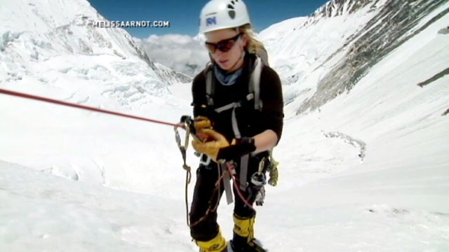 PHOTO: The climbers who faced off against a mob of angry sherpas on Mt. Everest are crediting American climber Melissa Arnot with helping them retreat to safety.