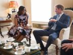 Prince Harry Enjoys Tea With Michelle Obama