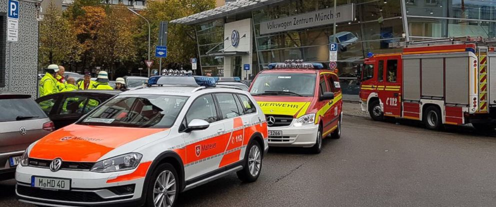 PHOTO: The Munich Fire Brigade tweeted this photo of the scene where a man stabbed five people in Munich, Germany, on Oct. 21, 2017, at Rosenheimer Platz train station.
