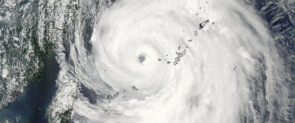PHOTO: This visible image of Typhoon Neoguri in the East China Sea was taken by the MODIS instrument aboard NASAs Aqua satellite in the early morning of July 8, 2014.
