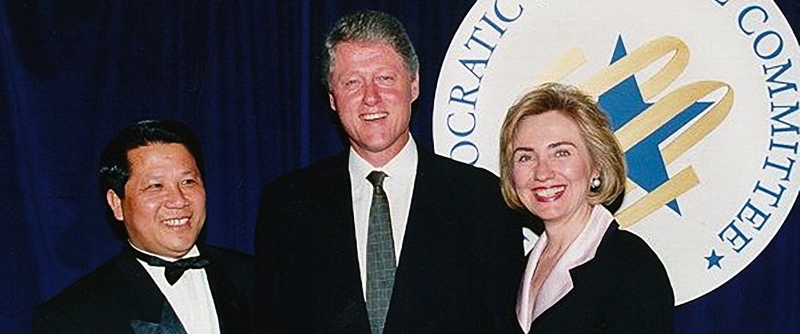PHOTO: Np Lap Seng posed with then-President Bill Clinton and Hillary at a Democratic National Committee event in the late 1990s.