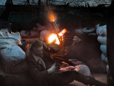 Life on the front line in Ukraine