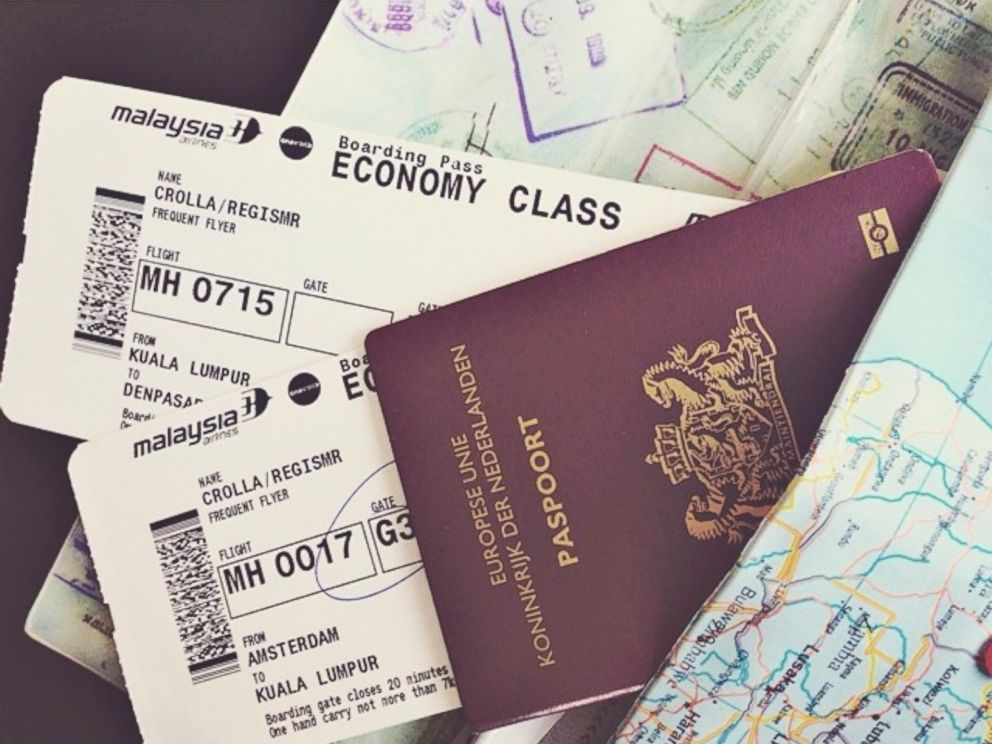 PHOTO: Regis Crolla, a passenger on Malaysia Airlines flight MH17 which crashed in East Ukraine, posted this photo to Instagram on July 17, 2014 with the caption, AMS --> Kuala Lumpur --> Bali. Hier zo veel zin in !! Adios amigoz.