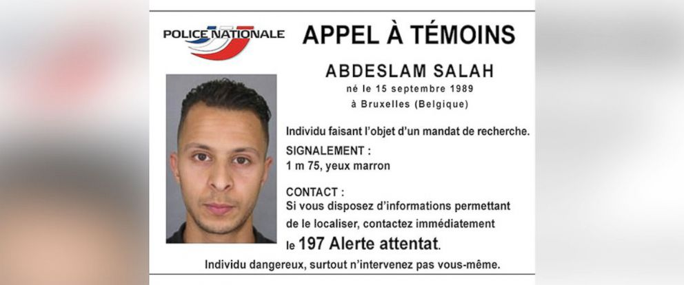 PHOTO: French police named a suspect, 26-year-old Salah Abdeslam, wanted for involvement in the Paris attacks.