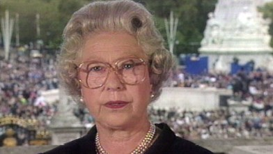 PHOTO: Britain's Queen Elizabeth II, seen in this TV image, pays tribute to Diana, princess of Wales, extolling the late princess as an &quot;exceptional and gifted human being,&quot; Sept. 5, 1997, at Buckingham Palace.