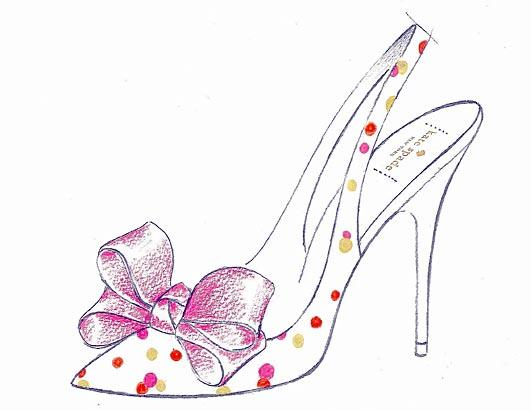Royal Wedding Shoe Sketches