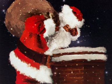 PHOTO: Santa Clause & Chimney Christmas Card - For Son In Law