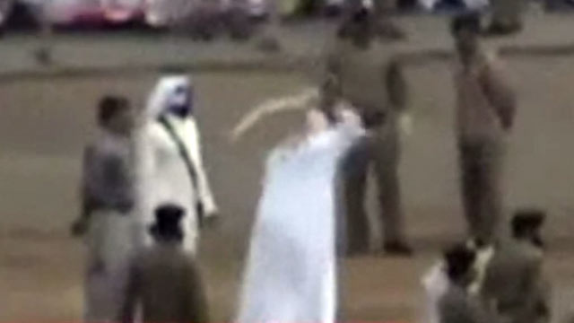 PHOTO: Saudi Arabian officials execute an Indonesian maid on June 18, 2011.