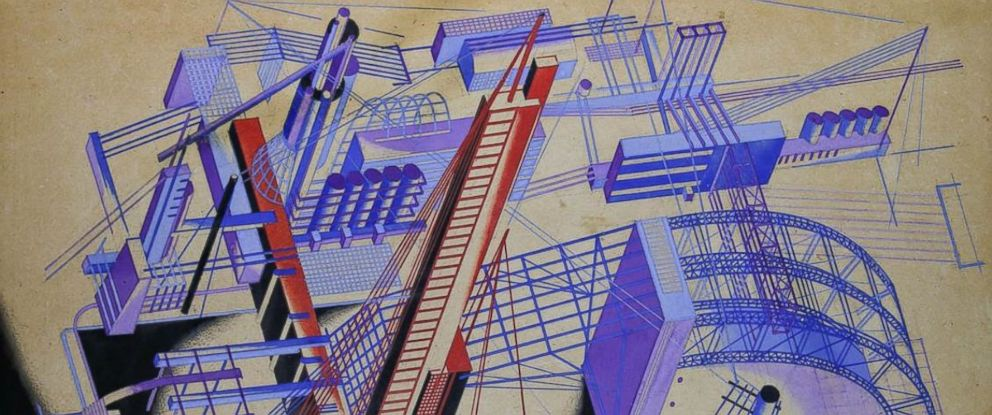 PHOTO: A drawing by Yakov Chernikhov, an avant-garde architect working in the early 20th century.