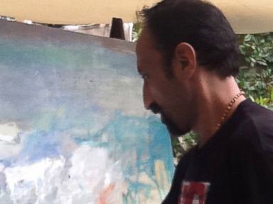 PHOTO: An Aley resident artist at work in Beirut.