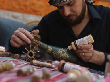 Meet the Rebel Syrian Artist Painting on Mortar Shells