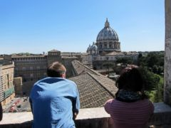 PHOTO: Spectacular view of Rome from the balcony of the Tower of the Winds, the Vaticans first astronomy tower.