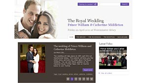 PHOTO: Prince William and Catherine (Kate) Middletons official royal wedding site.