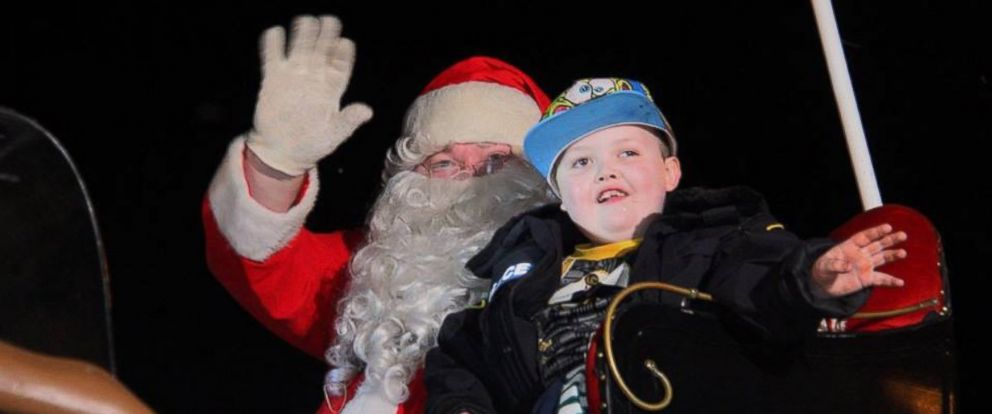 PHOTO: St. George, Ontario celebrated Christmas on Saturday for 7-year-old Evan Leversage who has cancer.