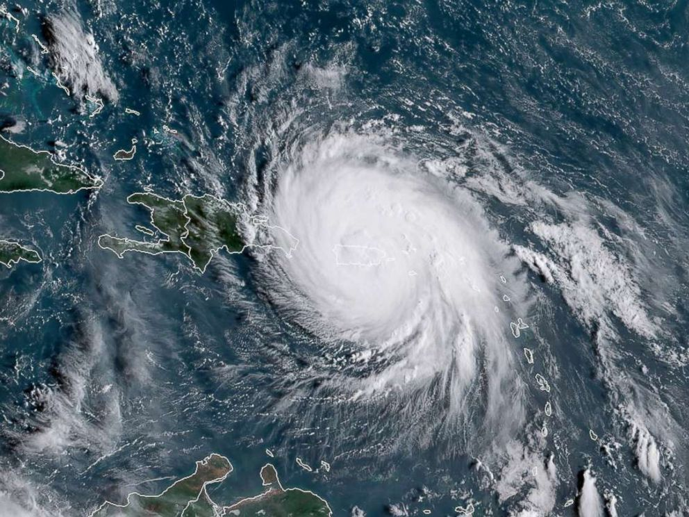 PHOTO: This satellite image obtained from the National Oceanic and Atmospheric Administration (NOAA) shows Hurricane Maria, Sept. 20, 2017.