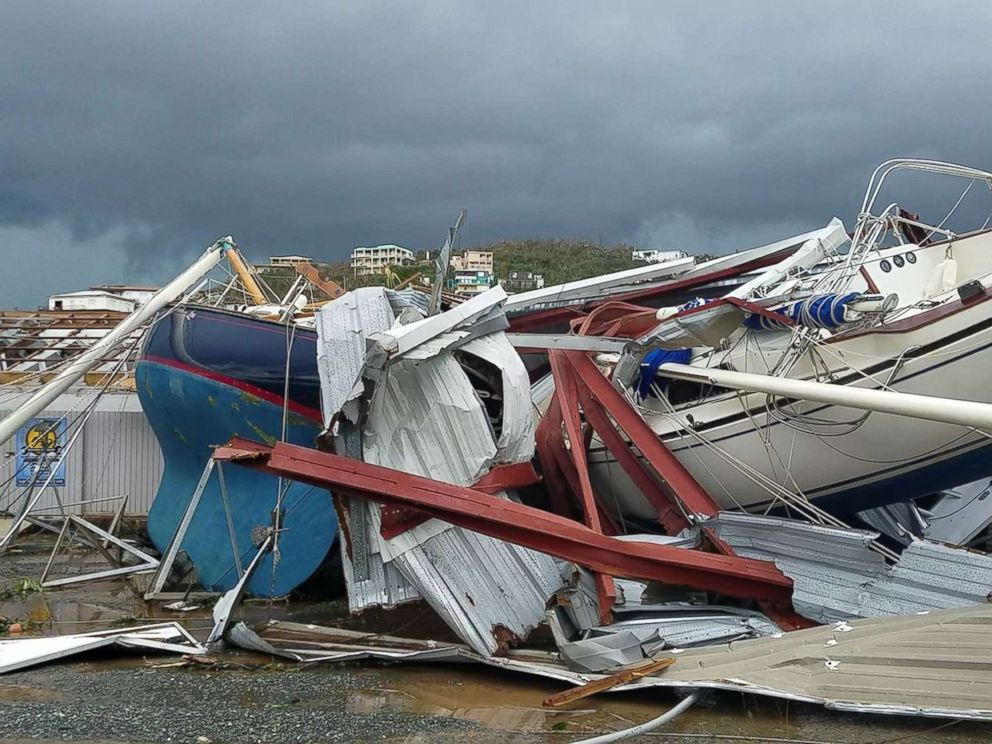 PHOTO: Damage from Hurricane Irma in St. Thomas, U.S. Virgin Islands, Sept. 7, 2017.